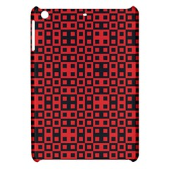 Abstract Background Red Black Apple Ipad Mini Hardshell Case