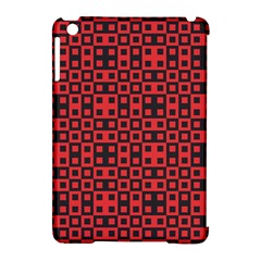 Abstract Background Red Black Apple Ipad Mini Hardshell Case (compatible With Smart Cover)