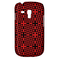 Abstract Background Red Black Galaxy S3 Mini