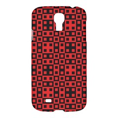 Abstract Background Red Black Samsung Galaxy S4 I9500/i9505 Hardshell Case