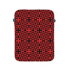 Abstract Background Red Black Apple Ipad 2/3/4 Protective Soft Cases