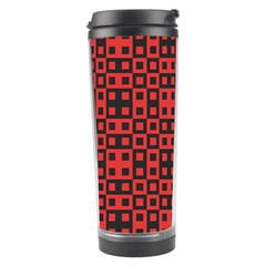 Abstract Background Red Black Travel Tumbler