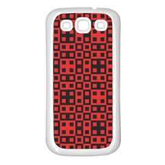 Abstract Background Red Black Samsung Galaxy S3 Back Case (White)