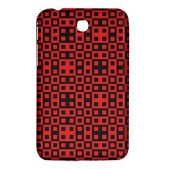 Abstract Background Red Black Samsung Galaxy Tab 3 (7 ) P3200 Hardshell Case