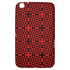 Abstract Background Red Black Samsung Galaxy Tab 3 (8 ) T3100 Hardshell Case