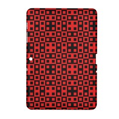 Abstract Background Red Black Samsung Galaxy Tab 2 (10 1 ) P5100 Hardshell Case