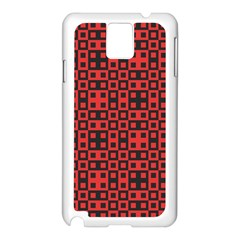 Abstract Background Red Black Samsung Galaxy Note 3 N9005 Case (white)