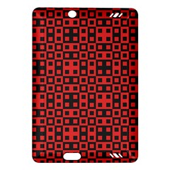 Abstract Background Red Black Amazon Kindle Fire HD (2013) Hardshell Case