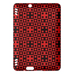Abstract Background Red Black Kindle Fire Hdx Hardshell Case