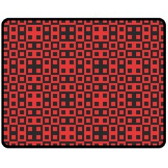 Abstract Background Red Black Double Sided Fleece Blanket (medium)