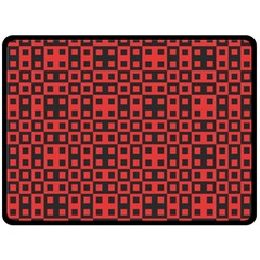 Abstract Background Red Black Double Sided Fleece Blanket (large)