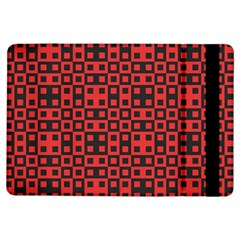 Abstract Background Red Black Ipad Air Flip