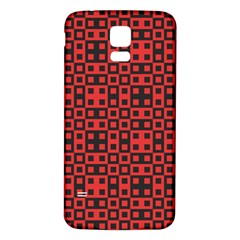 Abstract Background Red Black Samsung Galaxy S5 Back Case (white)