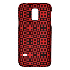 Abstract Background Red Black Galaxy S5 Mini