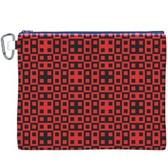 Abstract Background Red Black Canvas Cosmetic Bag (XXXL)