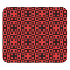 Abstract Background Red Black Double Sided Flano Blanket (Small)