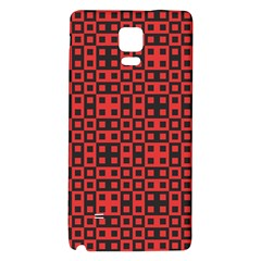 Abstract Background Red Black Galaxy Note 4 Back Case