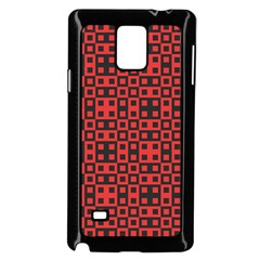 Abstract Background Red Black Samsung Galaxy Note 4 Case (Black)
