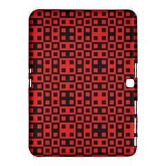 Abstract Background Red Black Samsung Galaxy Tab 4 (10.1 ) Hardshell Case