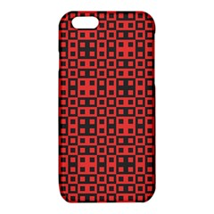 Abstract Background Red Black iPhone 6/6S TPU Case