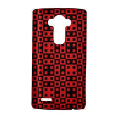 Abstract Background Red Black LG G4 Hardshell Case