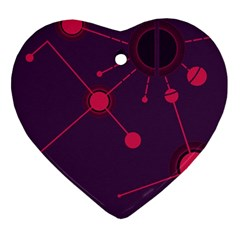 Abstract Lines Radiate Planets Web Ornament (Heart)