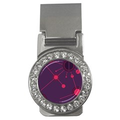 Abstract Lines Radiate Planets Web Money Clips (CZ)
