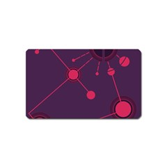 Abstract Lines Radiate Planets Web Magnet (Name Card)