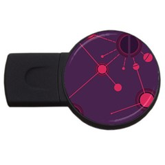 Abstract Lines Radiate Planets Web USB Flash Drive Round (1 GB)