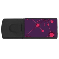 Abstract Lines Radiate Planets Web USB Flash Drive Rectangular (1 GB)