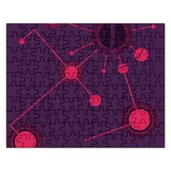 Abstract Lines Radiate Planets Web Rectangular Jigsaw Puzzl