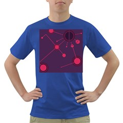 Abstract Lines Radiate Planets Web Dark T Shirt