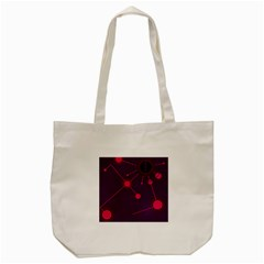 Abstract Lines Radiate Planets Web Tote Bag (cream)