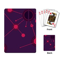 Abstract Lines Radiate Planets Web Playing Card