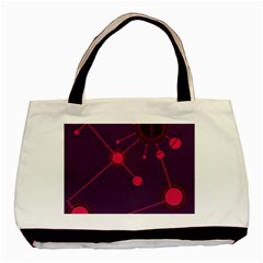 Abstract Lines Radiate Planets Web Basic Tote Bag