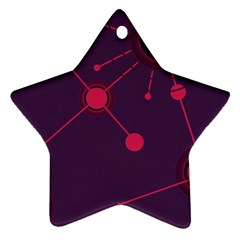 Abstract Lines Radiate Planets Web Star Ornament (two Sides)