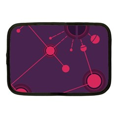 Abstract Lines Radiate Planets Web Netbook Case (Medium)