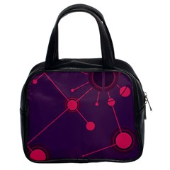 Abstract Lines Radiate Planets Web Classic Handbags (2 Sides)