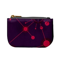 Abstract Lines Radiate Planets Web Mini Coin Purses