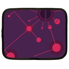 Abstract Lines Radiate Planets Web Netbook Case (XXL)