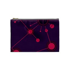 Abstract Lines Radiate Planets Web Cosmetic Bag (medium)