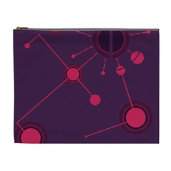 Abstract Lines Radiate Planets Web Cosmetic Bag (xl)