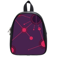 Abstract Lines Radiate Planets Web School Bags (small)