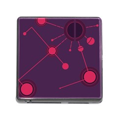 Abstract Lines Radiate Planets Web Memory Card Reader (Square)
