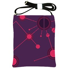 Abstract Lines Radiate Planets Web Shoulder Sling Bags