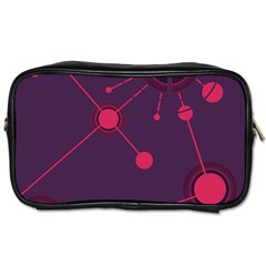 Abstract Lines Radiate Planets Web Toiletries Bags 2-Side