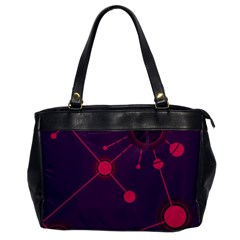 Abstract Lines Radiate Planets Web Office Handbags