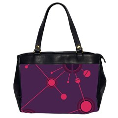 Abstract Lines Radiate Planets Web Office Handbags (2 Sides)