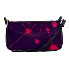 Abstract Lines Radiate Planets Web Shoulder Clutch Bags