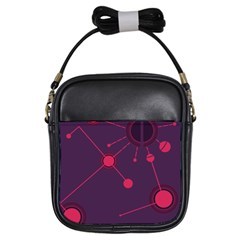 Abstract Lines Radiate Planets Web Girls Sling Bags